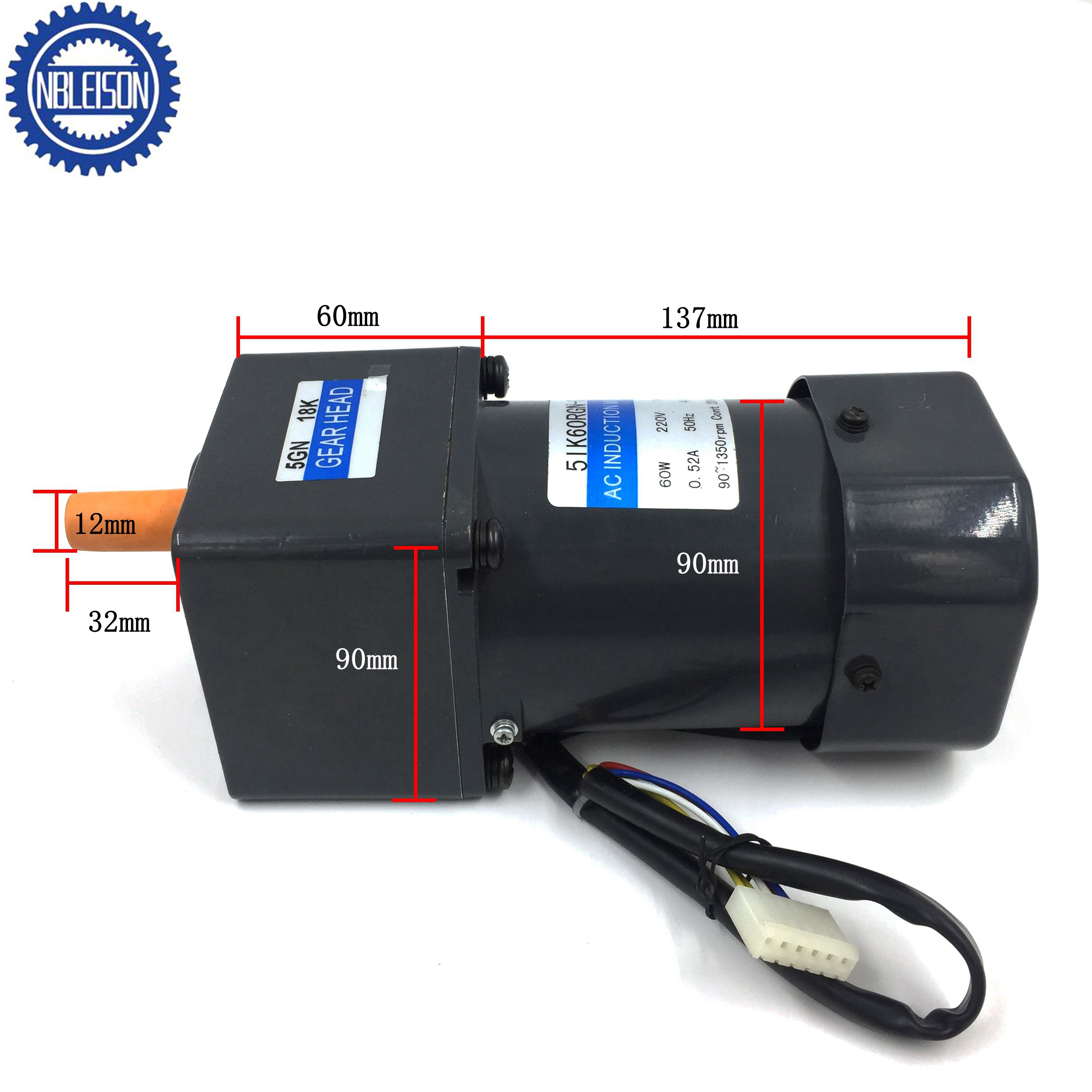 60W Ac Speed Control Motor